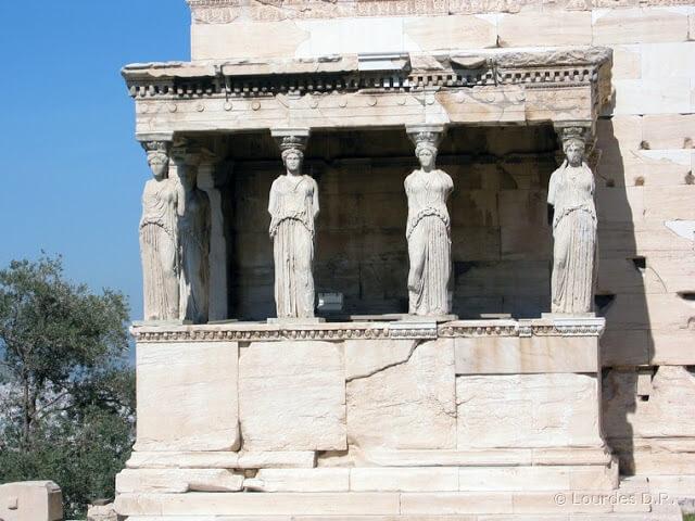 Tribuna de las Cariátides (Acrópolis de Atenas)