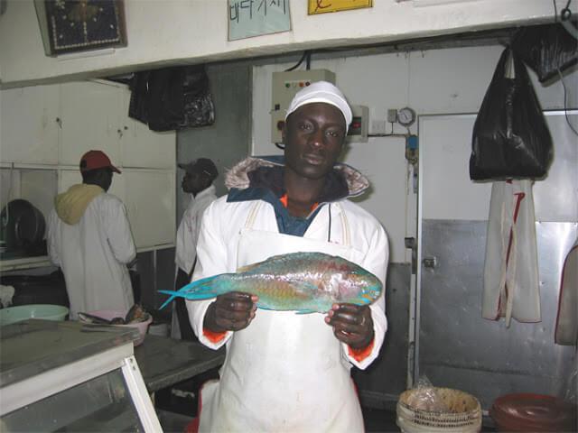Hermosos el pescado y el pescadero, Nairobi