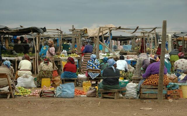 Mercadillo en Kenia