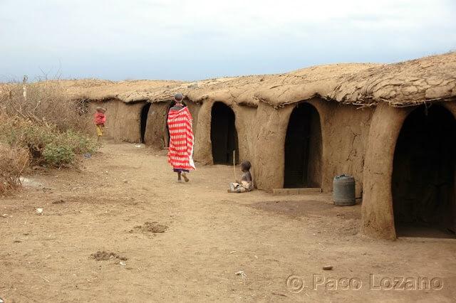 Poblado masai en Amboseli