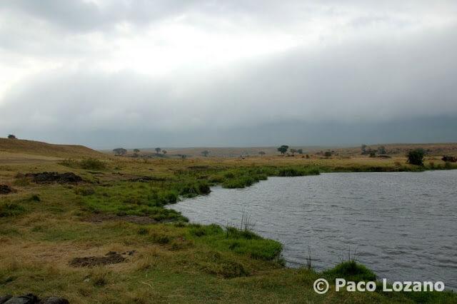 Lago en el cráter del Ngorongoro