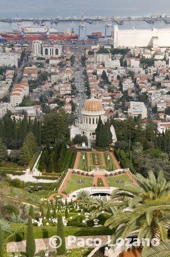 Los jardines Bahá'í en Haifa, Israel