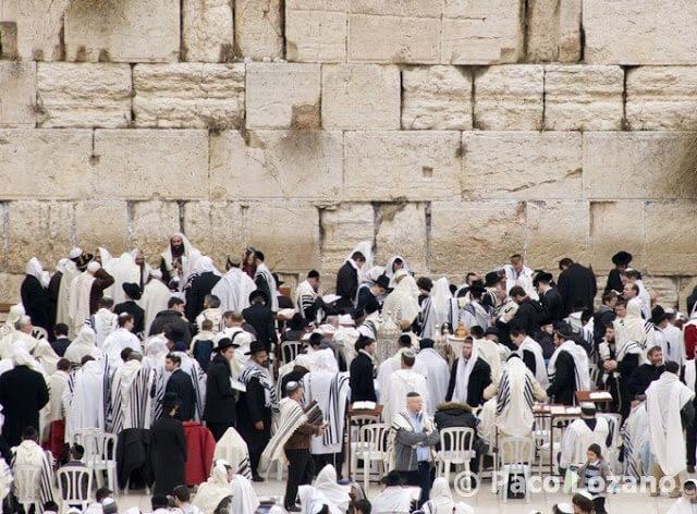 El Muro de las Lamentaciones en shabbat