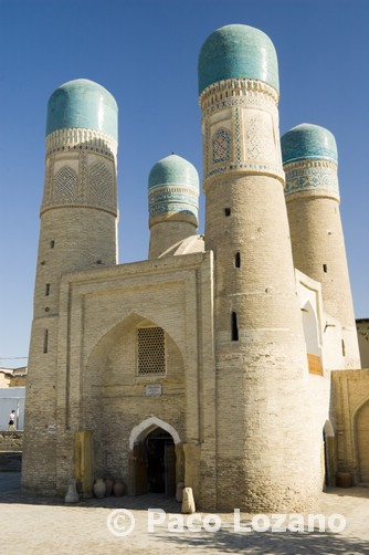 Madrasa Chor Minor, Bujará, Uzbekistán