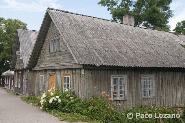 Casas de madera en Trakai, Lituania