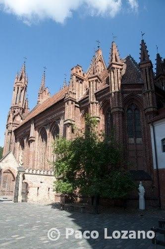 Iglesia de Santa Ana en Vilna, Lituania