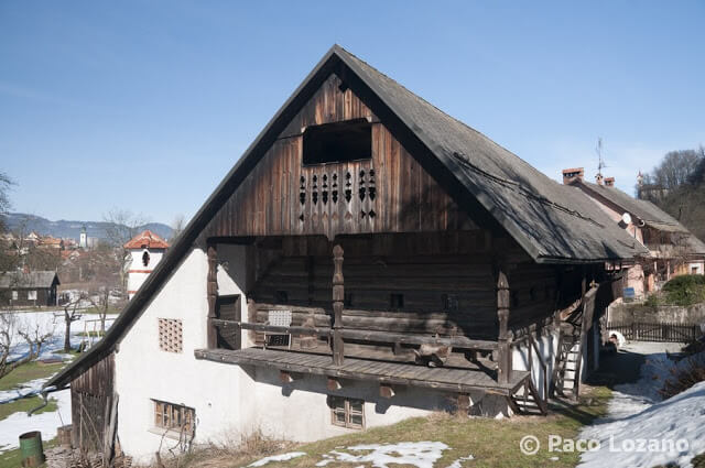 Casa de madera en Skofja Loka, Eslovenia