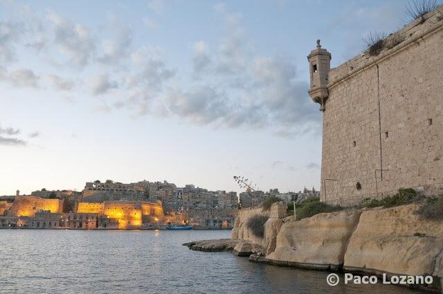 La fortaleza de Birgu (Vittoriosa)