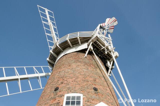 Molino de viento en los Norfolk Broads