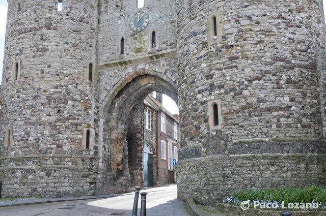 Puerta de la ciudad de Rye, UK