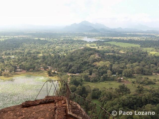 Panorama desde la cima de la fortaleza de Sigiriya