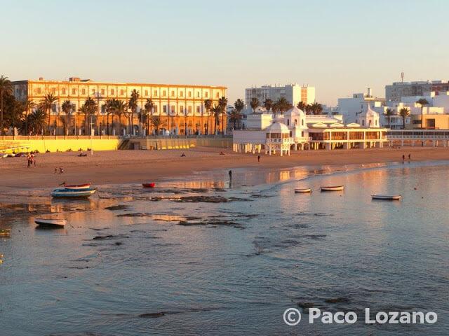 Playa gaditana de la Caleta