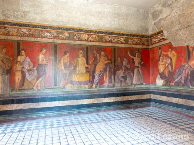 Frescos de la Villa de los Misterios