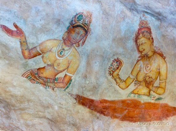 Frescos de Sigiriya en Sri Lanka
