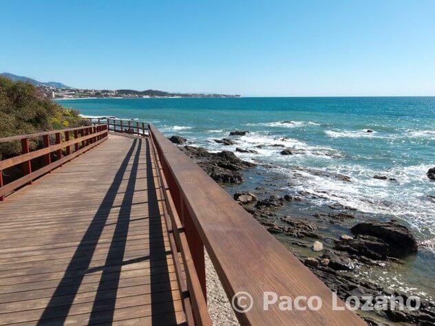 Senda litoral en Mijas