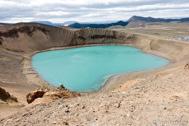 Cráter Viti, volcán Krafla