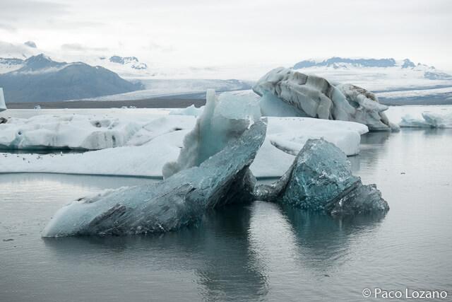 Icebergs en Islandia: lago glaciar Jokulsarlon