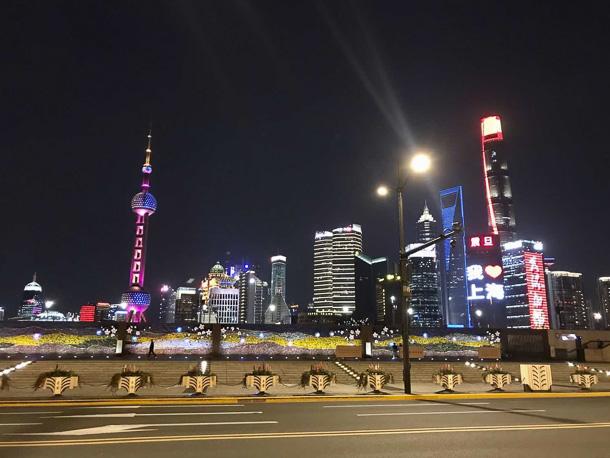 Pudong por la noche